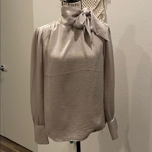 Taupe colored blouse
